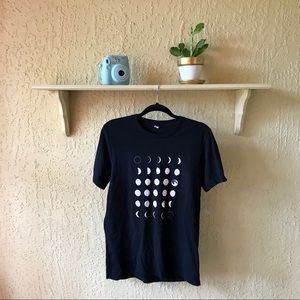 Tops - Black & White Moon Phase T-Shirt
